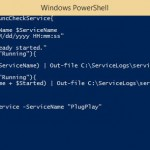 Powershell to check and start a service