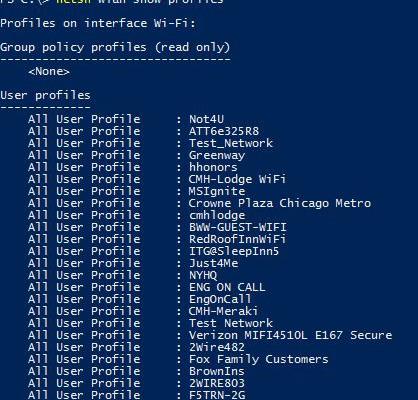 Windows 10 – Forget Wireless Network